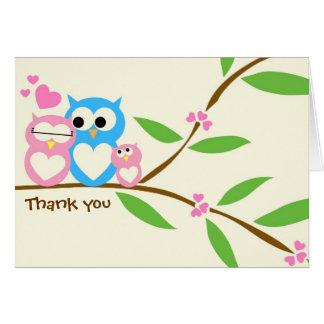 Baby-Eule danken Ihnen Anmerkungs-Karte