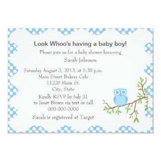 Baby-Eulen-Babyparty-Einladung