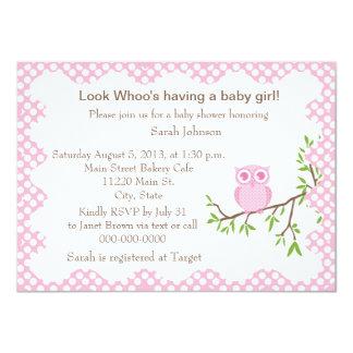 Baby-Eulen-Babyparty-Einladung 11,4 X 15,9 Cm Einladungskarte