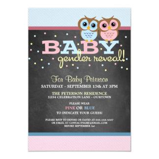 Baby-Eulen-Geschlecht decken Party Einladung auf