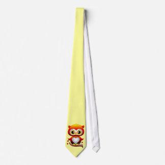 Baby-Eulen-Liebe-Herz-Cartoon-Krawatte Krawatte