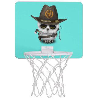 Baby-Eulen-Zombie-Jäger Mini Basketball Ring