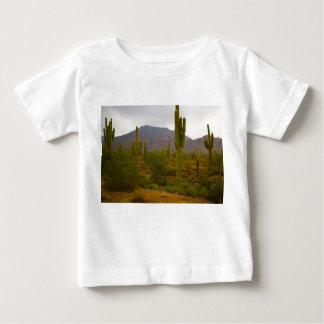 Baby-feiner Jersey-T - Shirt helle Sahuaro Kakteen