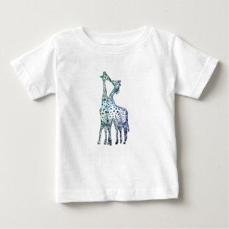 Baby-feiner Jersey-T - Shirt-süßer Giraffen-Kuss Baby T-shirt