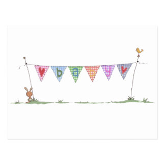 Baby-Flagge Postkarte