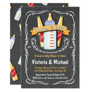 Baby-Flaschen-und Bier-Babyparty-Tafel Karte