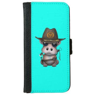 Baby-Flusspferd-Zombie-Jäger iPhone 6/6s Geldbeutel Hülle