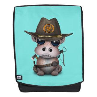 Baby-Flusspferd-Zombie-Jäger Rucksack