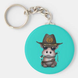 Baby-Flusspferd-Zombie-Jäger Schlüsselanhänger