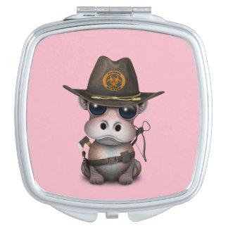 Baby-Flusspferd-Zombie-Jäger Taschenspiegel