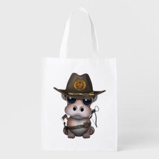 Baby-Flusspferd-Zombie-Jäger Wiederverwendbare Einkaufstasche