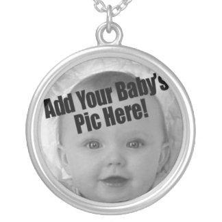 Baby-Foto Halskette Mit Rundem Anhänger