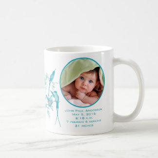 Baby-Foto-niedliche Kolibri-Familie Kaffeetasse