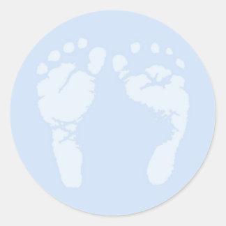 Baby-Fuß-Aufkleber Runder Aufkleber