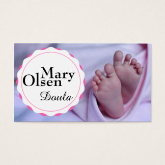 Baby-Fuß-Visitenkarte Visitenkarte