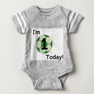 Baby-Fußball-1. Geburtstags-Bodysuit Baby Strampler
