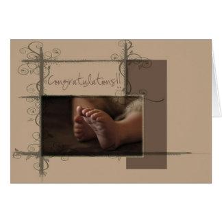 Baby-Füße Karte
