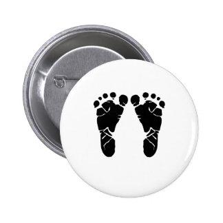 Baby-Füße Runder Button 5,1 Cm