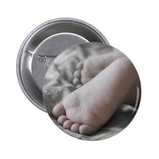 Baby-Füße Runder Button 5,7 Cm