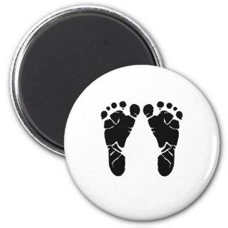 Baby-Füße Runder Magnet 5,7 Cm