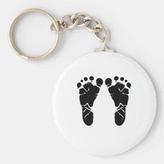 Baby-Füße Standard Runder Schlüsselanhänger