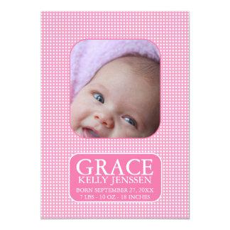 Baby-Geburts-Mitteilung 12,7 X 17,8 Cm Einladungskarte