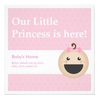 Baby-Geburts-Mitteilung Ankündigungskarte