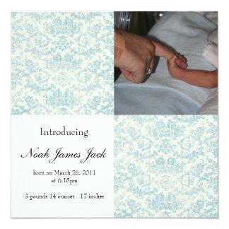 Baby-Geburts-Mitteilung Personalisierte Einladungen