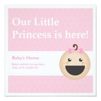 Baby-Geburts-Mitteilung! Ankündigungskarte