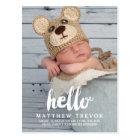 Baby-Geburts-Mitteilungs-Postkarte   hallo Postkarte