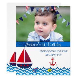 Baby, Geburtstag, See-, kundenspezifische Karte