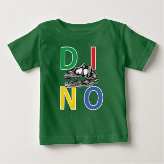 Baby-Geldstrafe-Jersey-T - Shirt DINO - Kelly