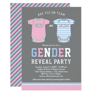 Baby-Geschlecht decken Party Einladung rosa | oder