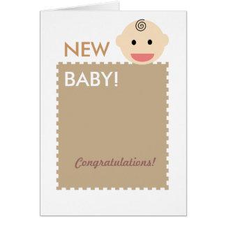 Baby-Gesicht Grußkarte