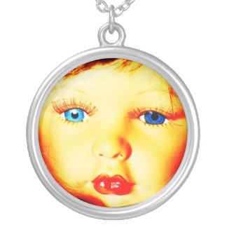 Baby-Gesichts-Halskette, Schmuck-Sterlingsilber üb Halskette Mit Rundem Anhänger