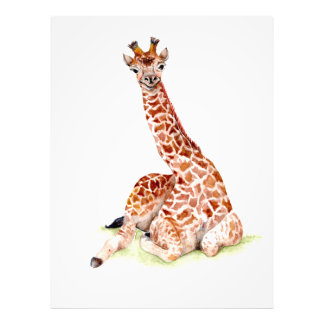 Baby-Giraffe Fotodruck