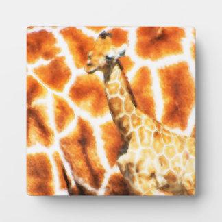 Baby-Giraffe Fotoplatte