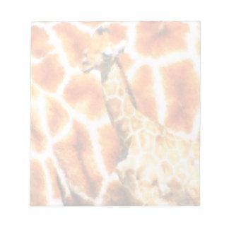 Baby-Giraffe Notizblock