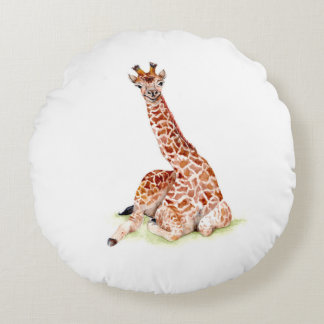 Baby-Giraffe Rundes Kissen