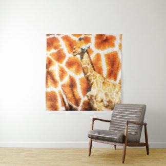 Baby-Giraffe Wandteppich