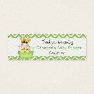 Baby-Giraffen-Babyparty danken Ihnen zu bevorzugen Mini Visitenkarte