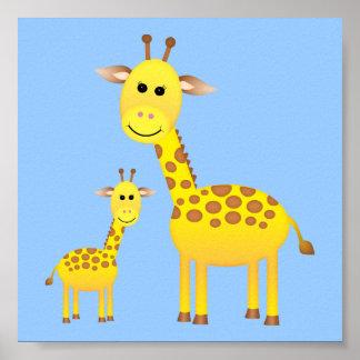 Baby-Giraffen-Kinderzimmer-Dekor Poster