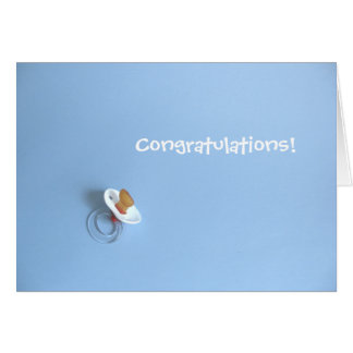 Baby-Glückwunsch Grußkarte