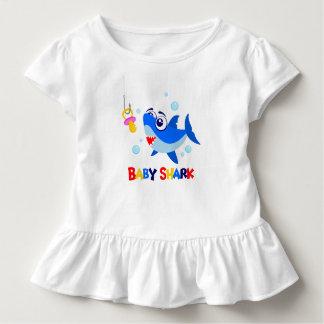 Baby-Haifisch-Kleinkind-Rüsche-T-Stück Kleinkind T-shirt