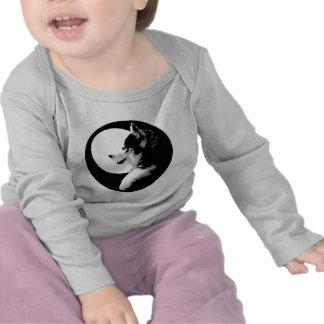 Baby-heisere Shirt-Schlitten-Hundebaby-T-Shirts