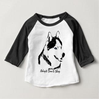 Baby-heiserer Shirt-Schlitten-Hundebaby-Baseball Baby T-shirt