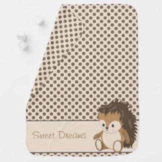 Baby-Igel der Waldtier-| | personalisiert Babydecke