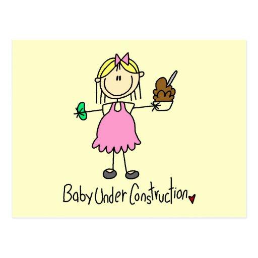 Baby-im Bau T-Shirts und Geschenke Postkarten