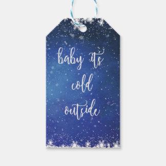 Baby ist es kalte Außenseite - Geschenkanhänger