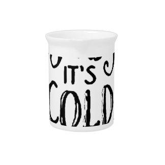 Baby ist es kalte Außenseite Getränke Pitcher